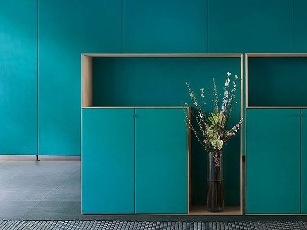 Contemporary style wooden highboard with doors EDEL | Contemporary style highboard by paola lenti