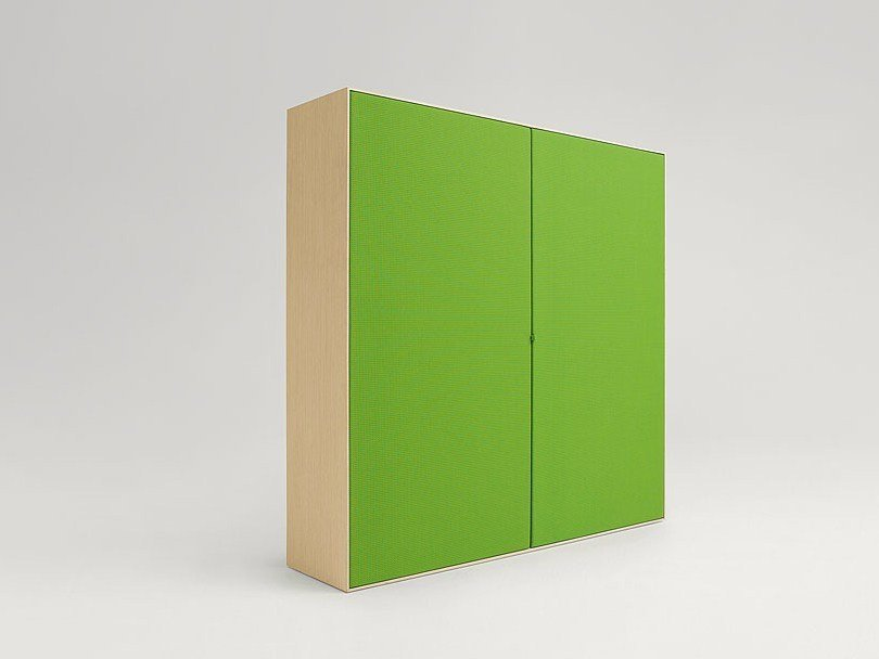 Wooden highboard with doors EDEL   Highboard with doors by paola lenti