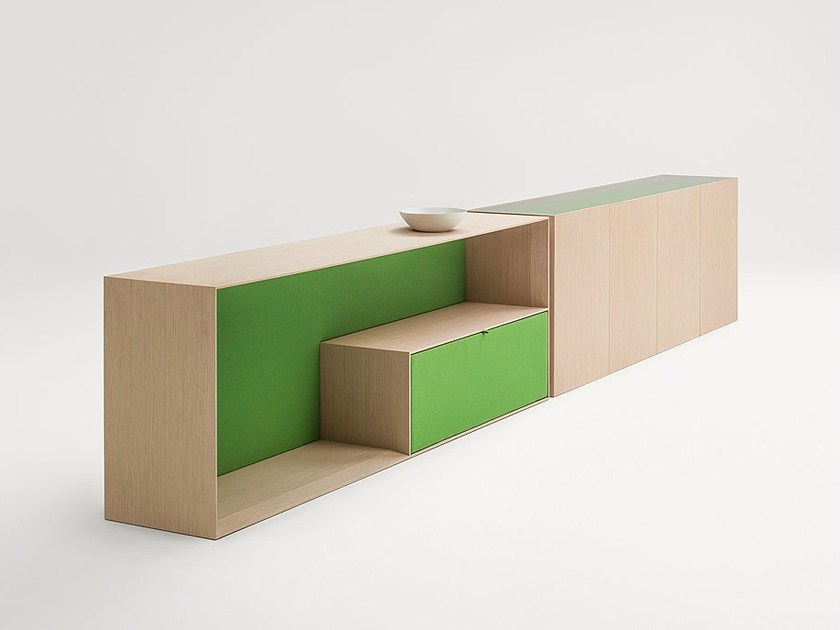 Wooden sideboard with doors EDEL | Sideboard by paola lenti