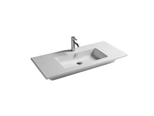 Rectangular ceramic washbasin EDEN - 101 CM by GALASSIA