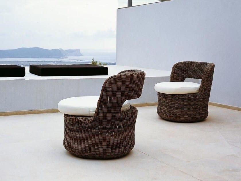 Synthetic fibre garden armchair EDEN   Garden armchair by Unopiù