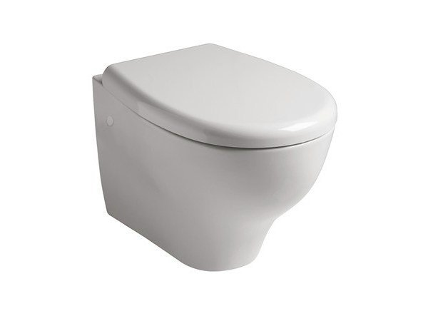 Wall-hung ceramic toilet EDEN | Wall-hung toilet by GALASSIA