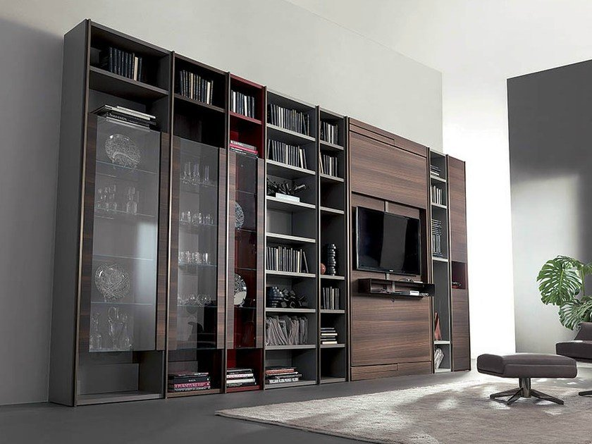 freistehendes design bucherregal design. Black Bedroom Furniture Sets. Home Design Ideas