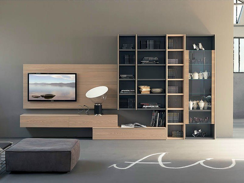 Freestanding TV wall system EDIS 2 by Fimar