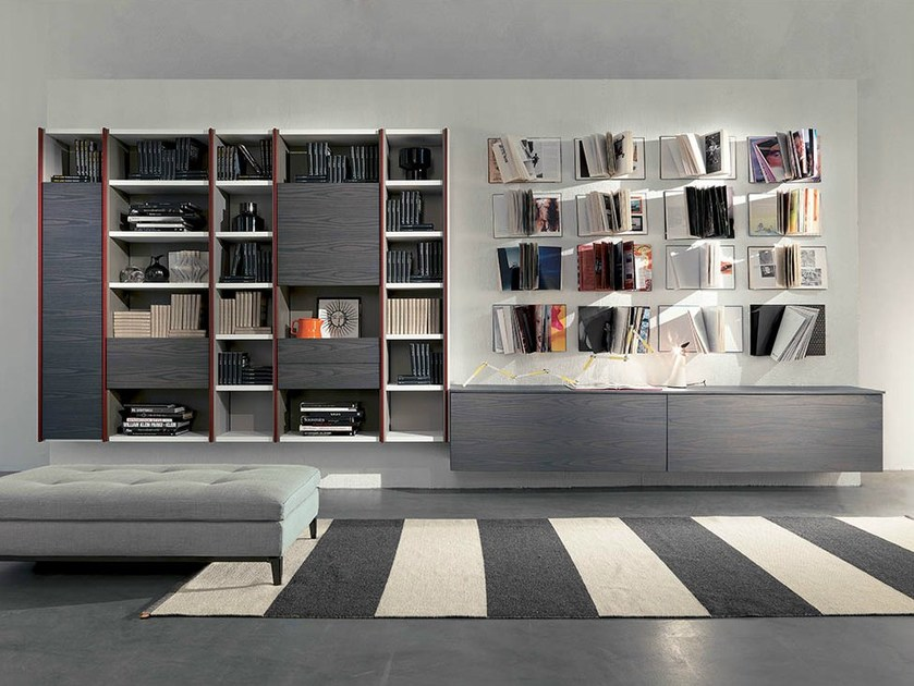 Wall-mounted storage wall EDIS 3 by Fimar