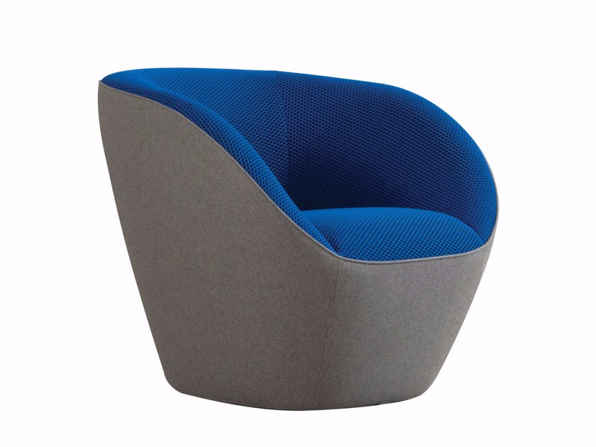Fabric armchair with armrests EDITO | Armchair by ROCHE BOBOIS