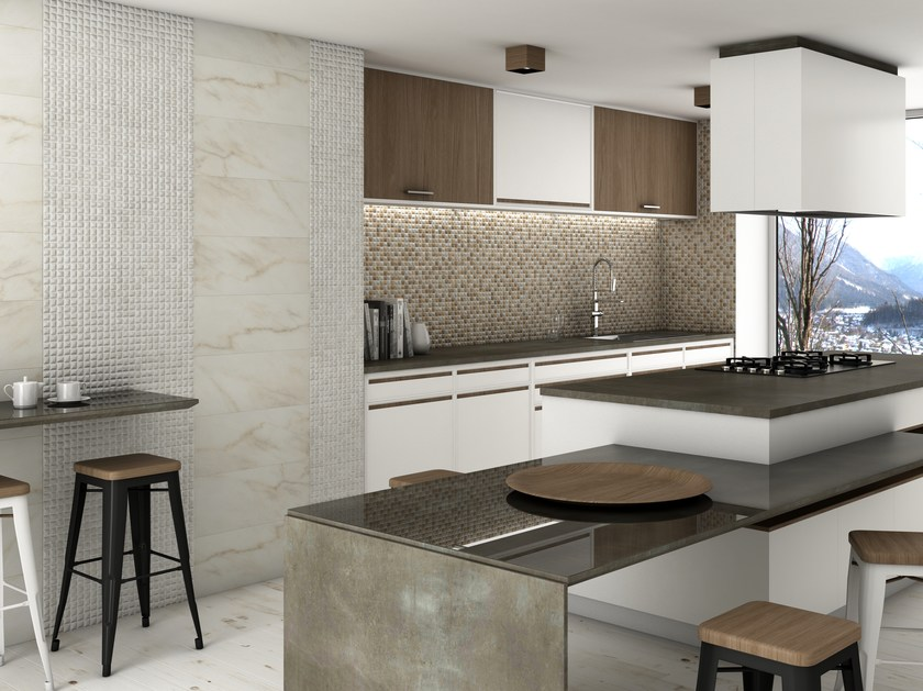 Glass mosaic EDNA TRAVERTINO by VIDREPUR
