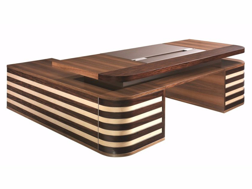 L-shaped executive desk EDOC | L-shaped office desk by ARTOM by Ultom