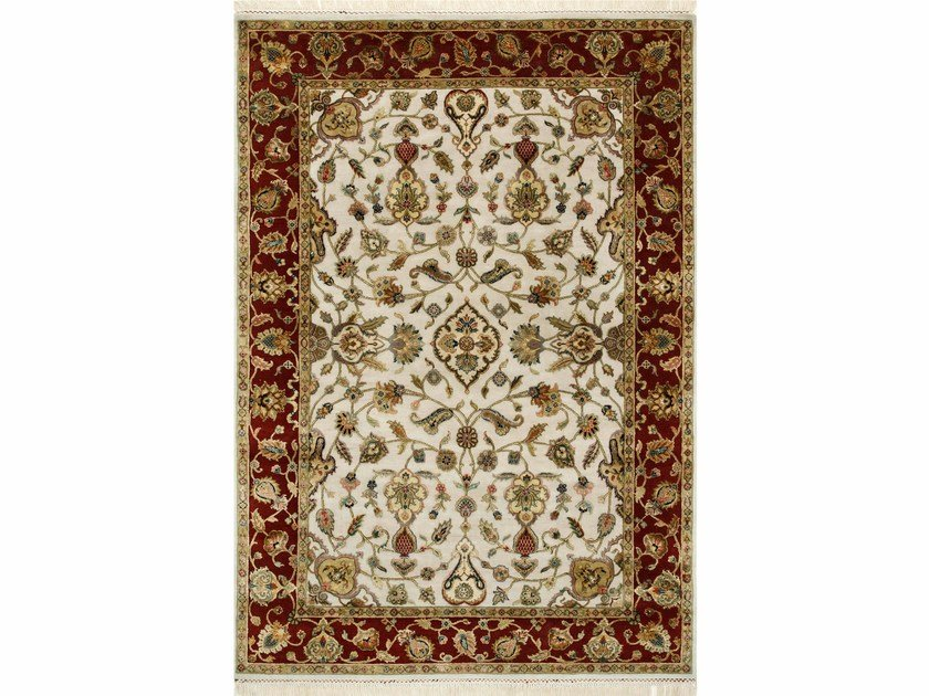 Handmade rug EDONIA QNQ-02 Medium Ivory/Red by Jaipur Rugs