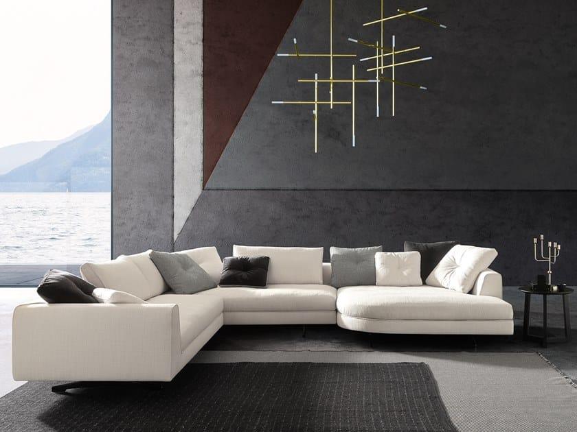 Corner sectional fabric sofa EDUARD NEW | Corner sofa by VALENTINI