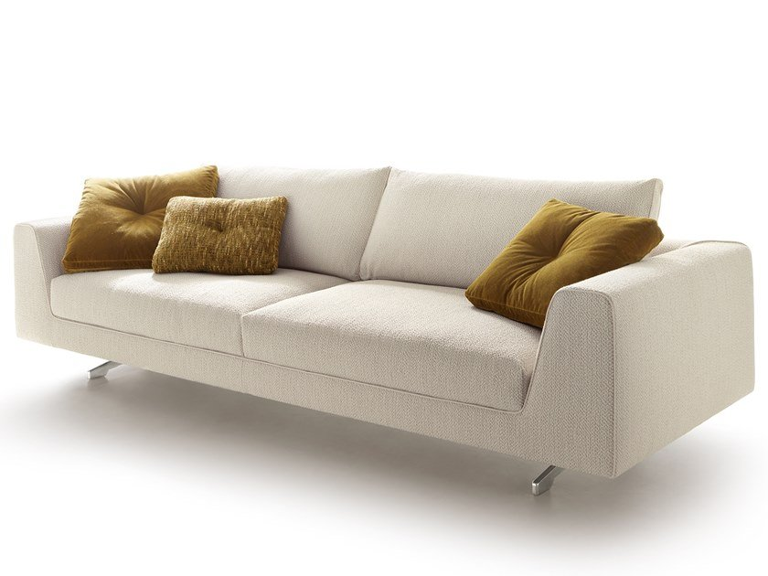 Fabric sofa with removable cover EDUARD NEW | Fabric sofa by VALENTINI