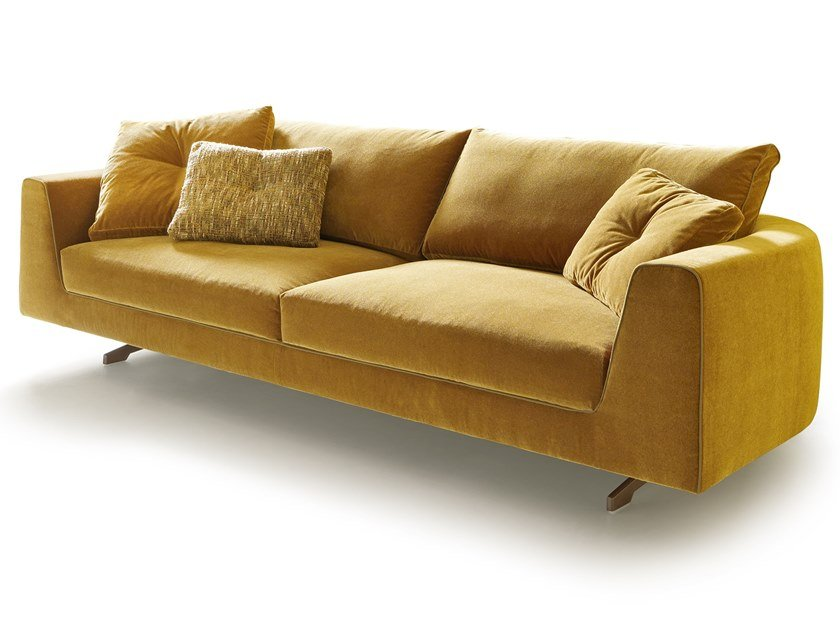 Velvet sofa with curved back EDUARD NEW | Velvet sofa by VALENTINI