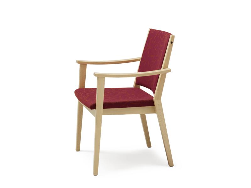 Fabric chair with armrests EDWARD   Chair with armrests by Wiesner-Hager