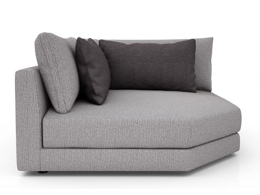 Corner fabric armchair with armrests EDWARD | Corner armchair by Huppé