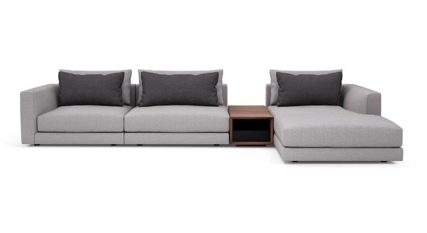 Corner sectional modular fabric sofa EDWARD | Sectional sofa by Huppé