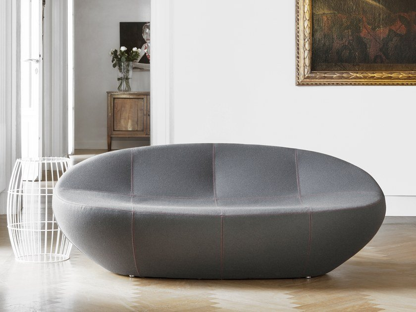 2 seater fabric sofa EERO XL by spHaus