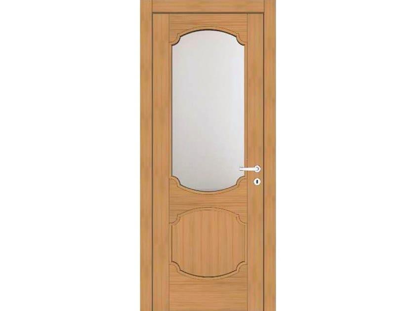 Hinged wood and glass door EFFIGIES 81V1 ROVERE MIELE by GD DORIGO