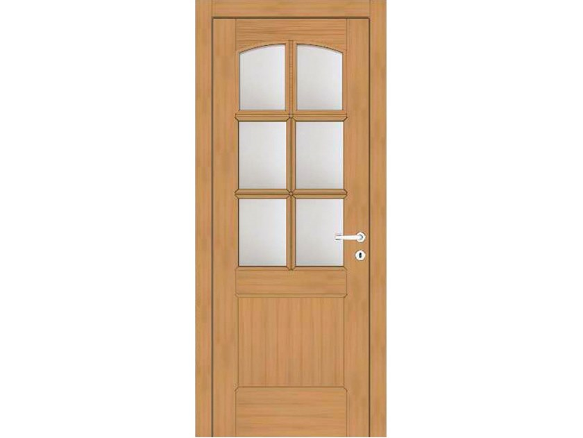 Hinged wood and glass door EFFIGIES 91T6 ROVERE MIELE by GD DORIGO