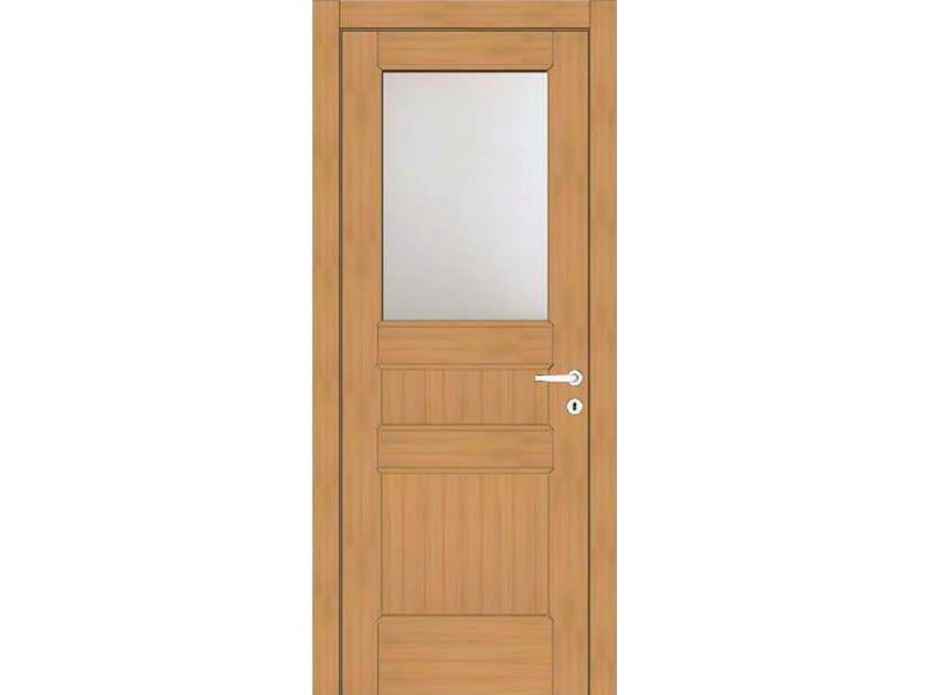 Hinged wood and glass door EFFIGIES 78V1 ROVERE MIELE by GD DORIGO