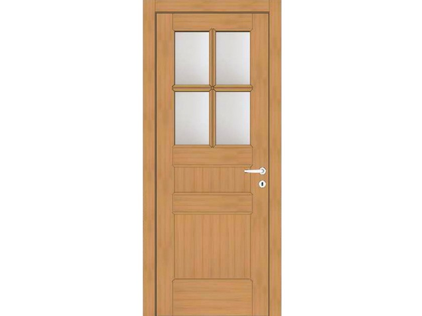 Hinged wood and glass door EFFIGIES 78T4 ROVERE MIELE by GD DORIGO
