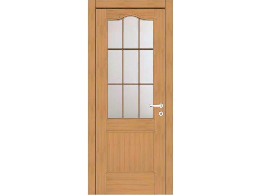 Hinged wood and glass door EFFIGIES 160T1 ROVERE MIELE by GD DORIGO