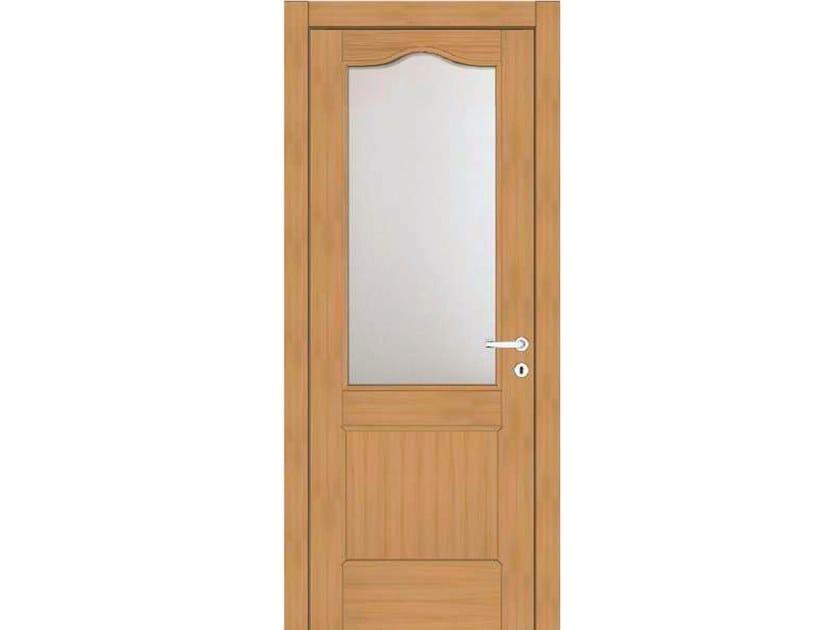 Hinged wood and glass door EFFIGIES 60V1 ROVERE MIELE by GD DORIGO