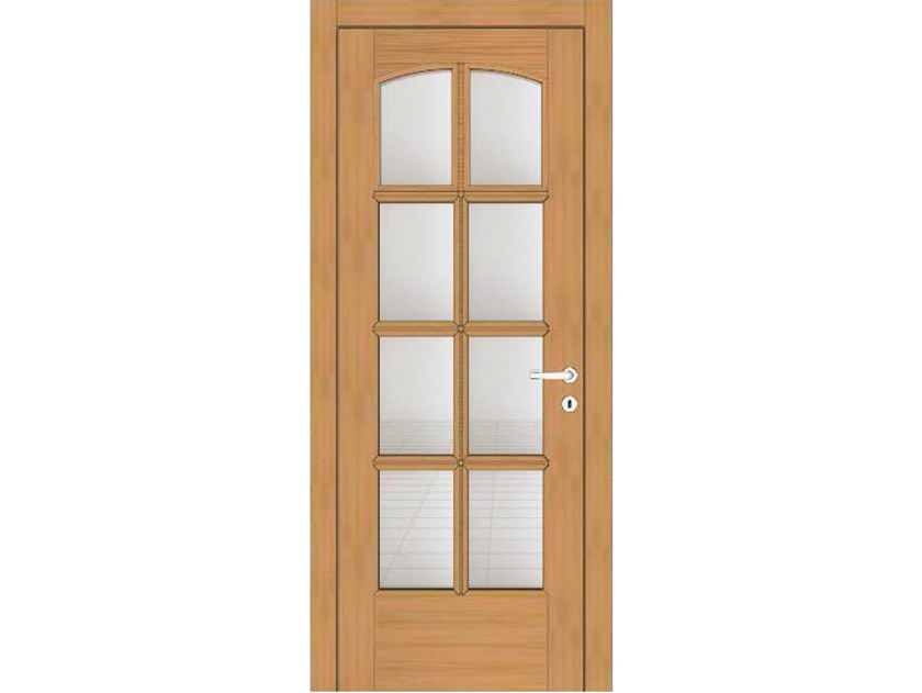 Hinged wood and glass door EFFIGIES 130T8 ROVERE MIELE by GD DORIGO