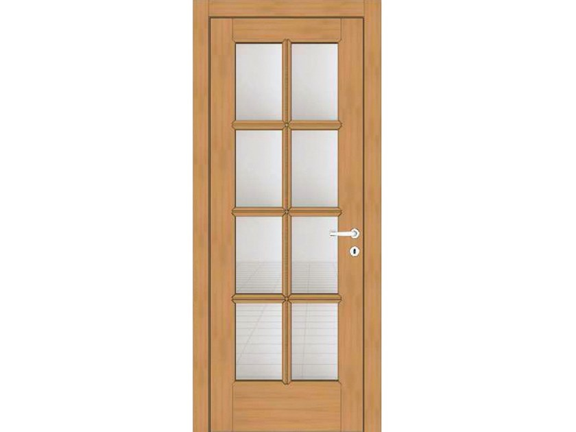 Hinged wood and glass door EFFIGIES 41T8 ROVERE MIELE by GD DORIGO