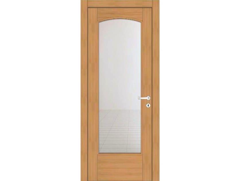 Hinged wood and glass door EFFIGIES 130V1 ROVERE MIELE by GD DORIGO