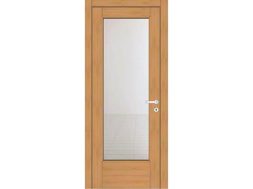 Hinged wood and glass door EFFIGIES 41V1 ROVERE MIELE by GD DORIGO