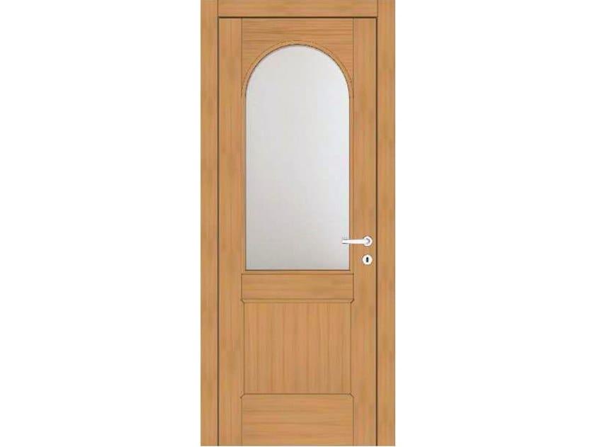 Hinged wood and glass door EFFIGIES 95V1 ROVERE MIELE by GD DORIGO