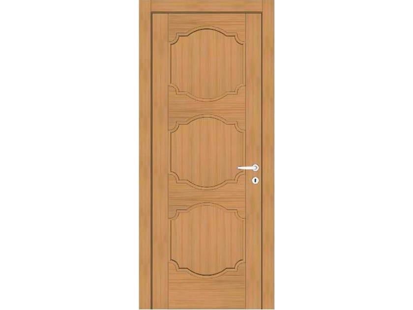 Hinged wooden door EFFIGIES 88 ROVERE MIELE by GD DORIGO