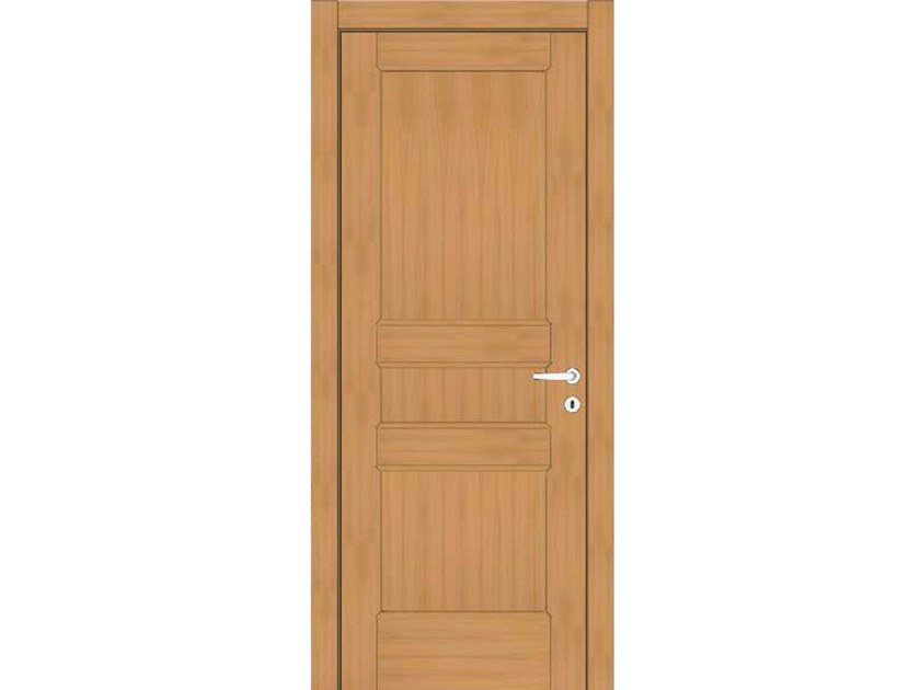 Hinged wooden door EFFIGIES 78 ROVERE MIELE by GD DORIGO