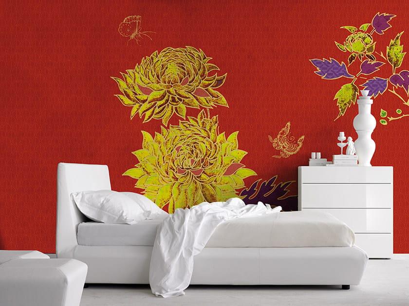 Carta da parati panoramica con motivi floreali FLAMBOYANT by Inkiostro Bianco