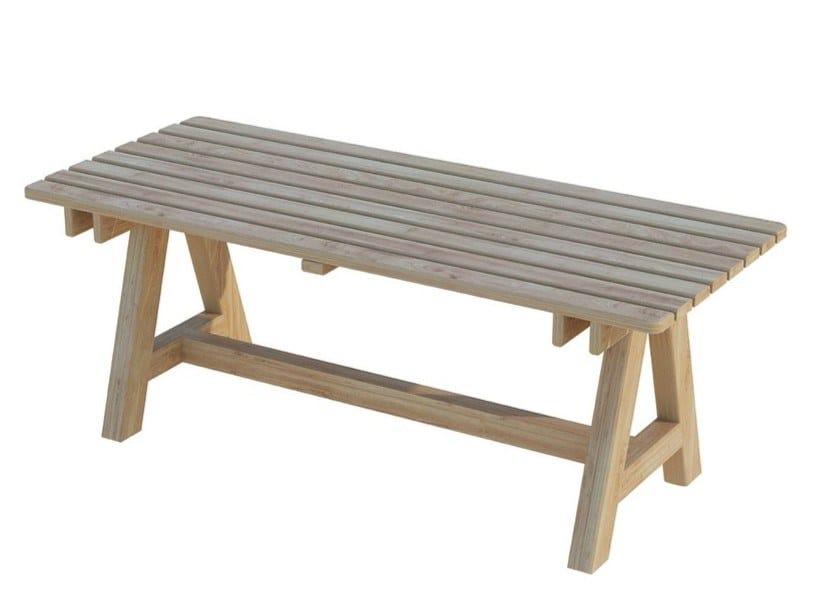 Tavolo da giardino rettangolare in legno EGEO | Tavolo by Zuri Design