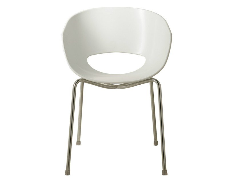 Delicieux Open Back Technopolymer Chair EGGSHELL By KARE DESIGN