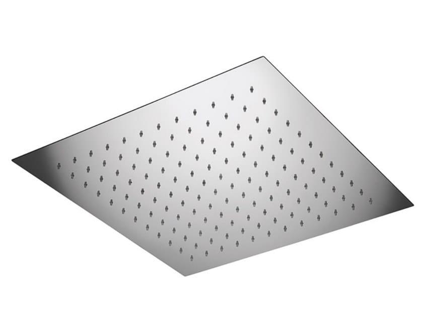 Built-in square overhead shower EGO - F1727 by Rubinetteria Giulini