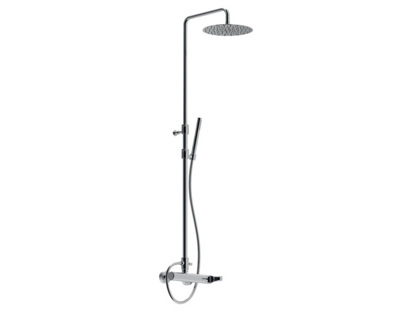 External shower set with hand shower with overhead shower EGO - F5708SWC-S-25X by Rubinetteria Giulini