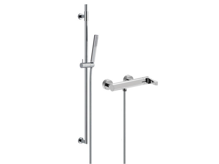 External single handle shower mixer with hand shower EGO - F5708WS by Rubinetteria Giulini
