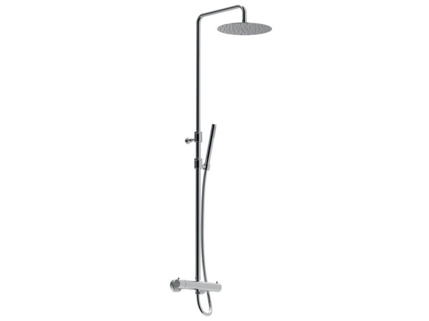Thermostatic shower set with hand shower with overhead shower EGO - F8225WC-S-25X by Rubinetteria Giulini
