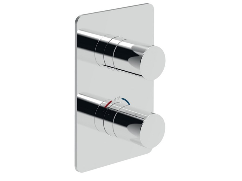 Recessed thermostatic shower mixer with plate EGO - F8277 by Rubinetteria Giulini