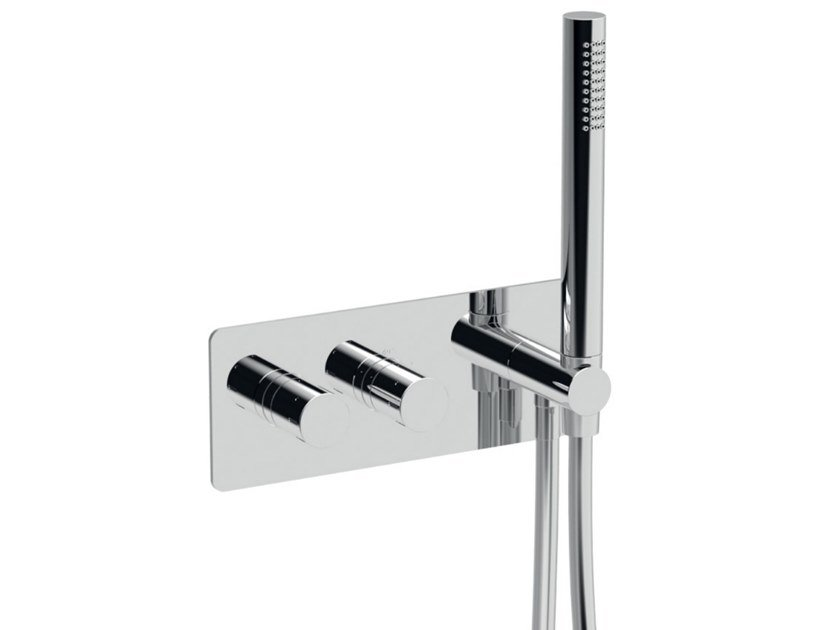 Recessed thermostatic shower set with hand shower EGO - F8279 by Rubinetteria Giulini