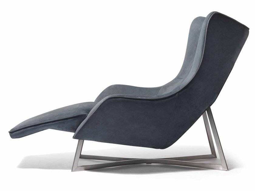 Chaise longue in nabuk EGOISTE | Chaise longue by Visionnaire