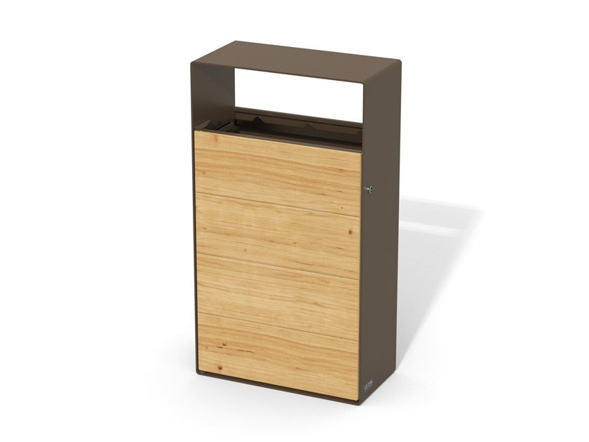 Steel and wood litter bin EIGHT | Outdoor litter bin by LAB23