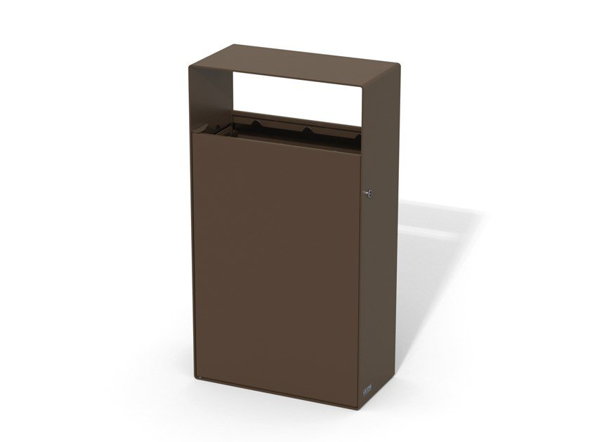 Galvanized steel litter bin EIGHT | Outdoor litter bin by LAB23