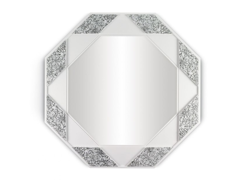 Wall-mounted mirror EIGHT SIDED WALL MIRROR B/W by Lladró
