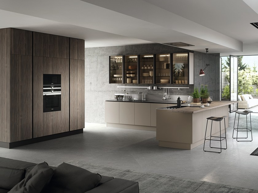 Exceptionnel Kitchen With Peninsula Without Handles EKO | Kitchen With Peninsula By  Pedini