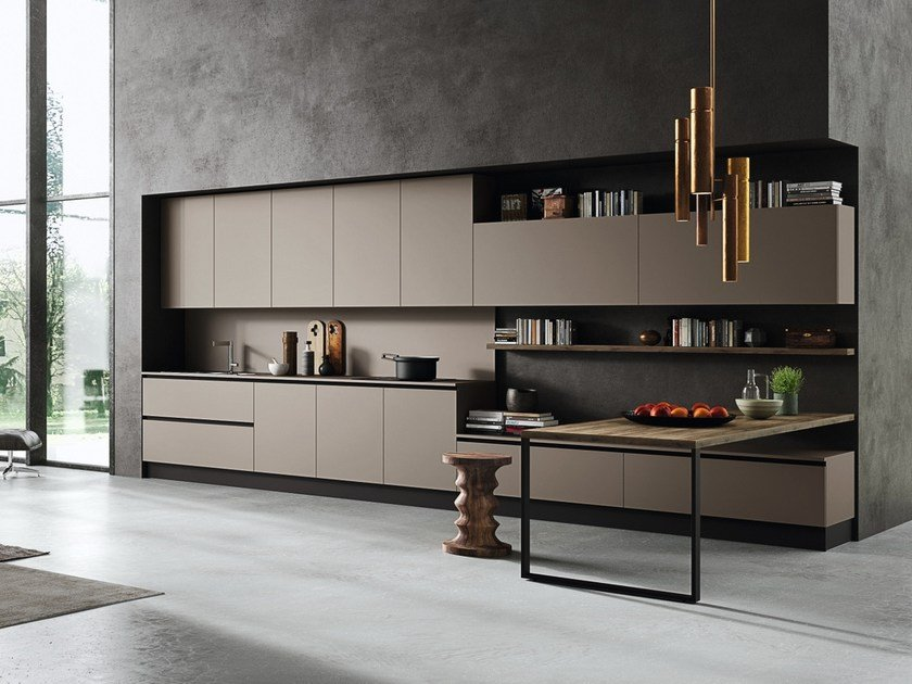 Linear Kitchen With Integrated Handles EKO | Linear Kitchen By Pedini