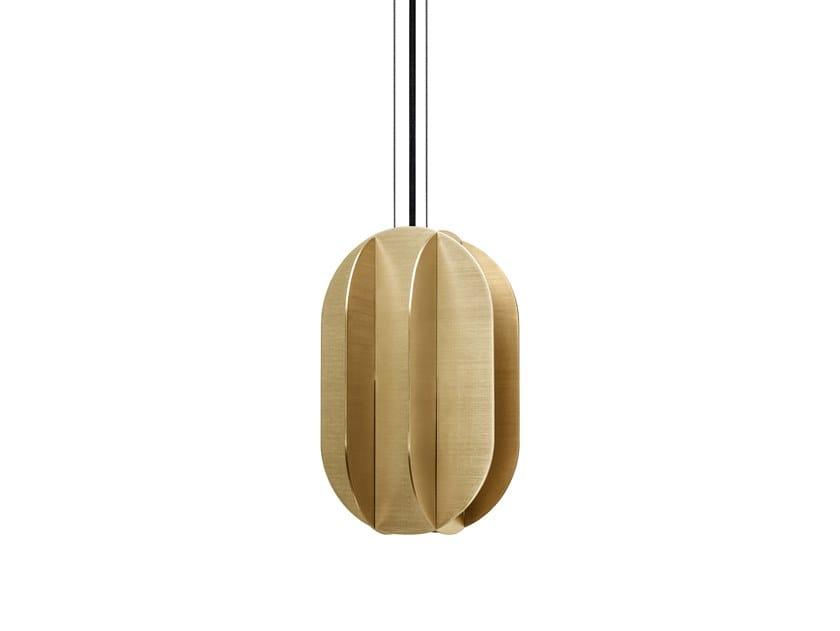 Lampada a sospensione a LED in ottone EL MEDIUM CS1 by NOOM