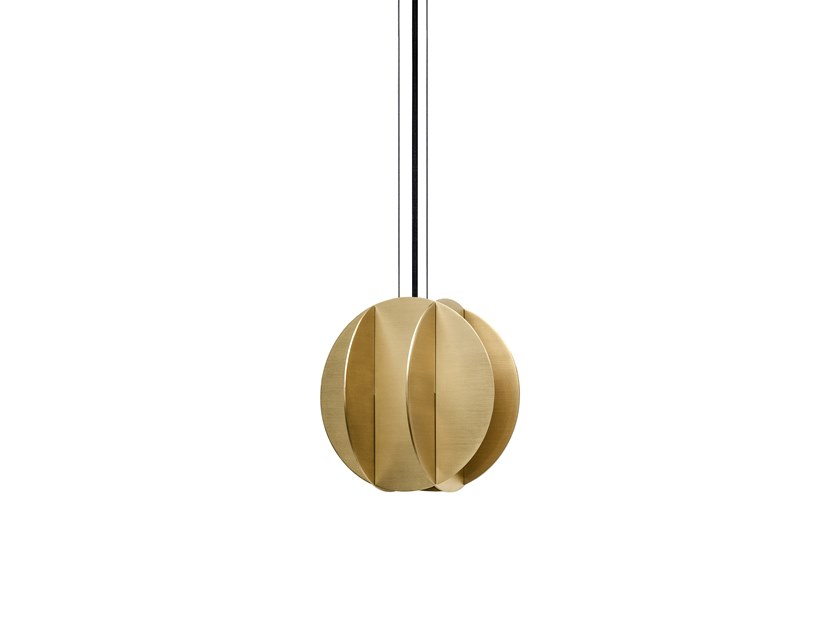 LED brass pendant lamp EL SMALL CS1 by NOOM